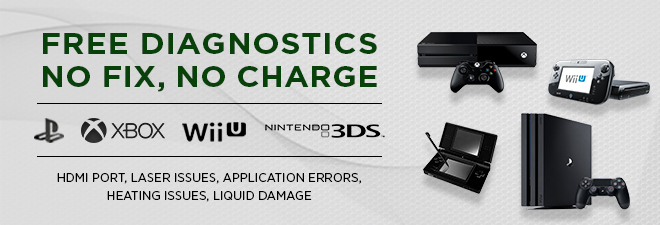 Gaming Console repair Playstation Xbox Nintendo Wii U
