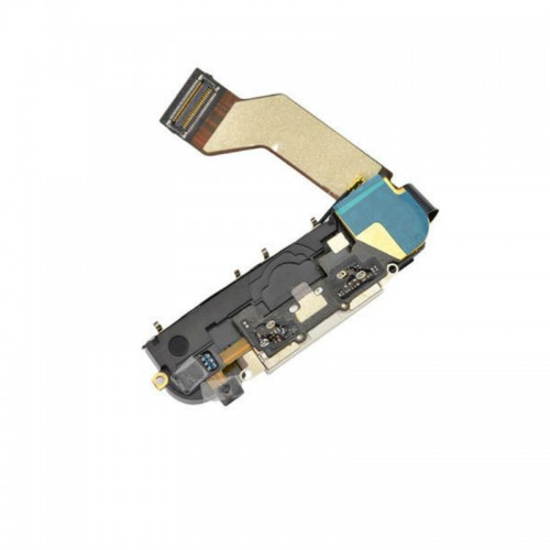 Apple iPhone 4s Charging Port Flex Cable with Dock Connector White