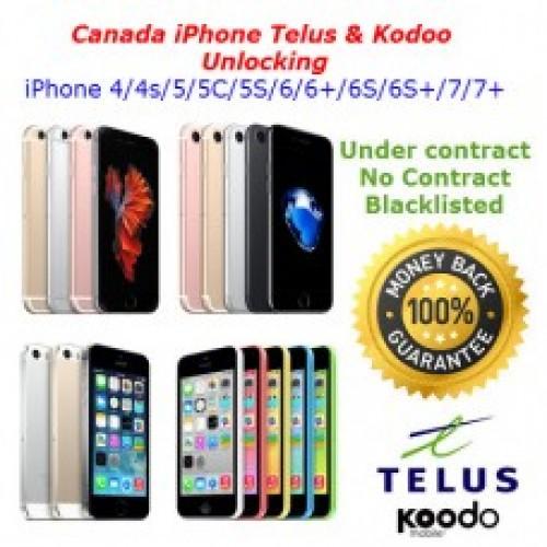 Apple iPhone Unlocking Service Telus and Koodo