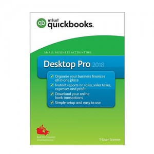 QuickBooks® Desktop Pro 2018, 1-User License, English