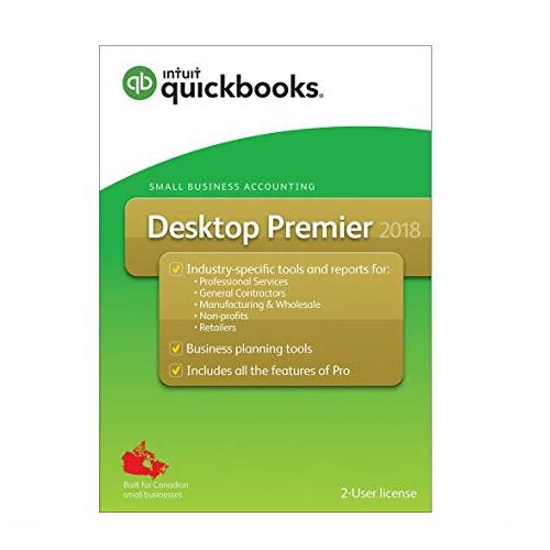 Quickbooks Desktop Premier 2018 2-User License