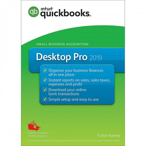 QuickBooks® Desktop Pro 2019, 1-User License, English